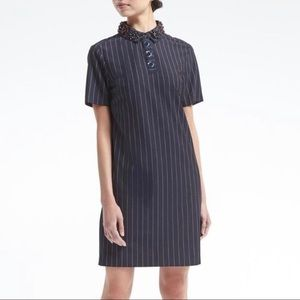 NWT Banana Republic Striped Embellished Dress